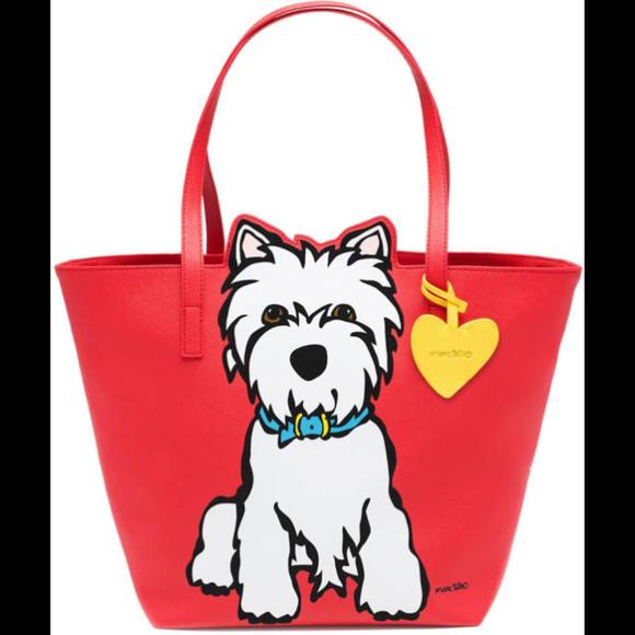 3f98fb642867 RESERVEDMarc Tetro Westie Dog Shopper Tote Handbag NWT
